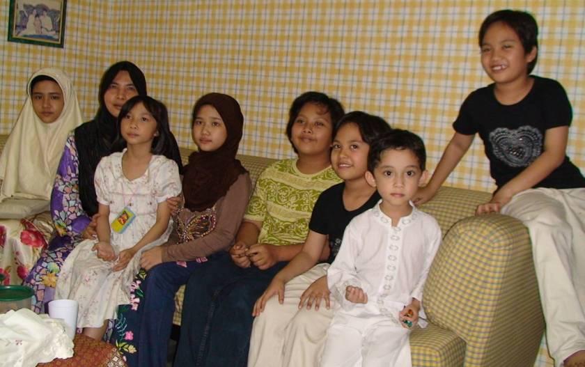 At Uncle Zainal's house