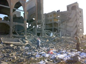 Destroyed orphan centre in Gaza, January 12, 2009.