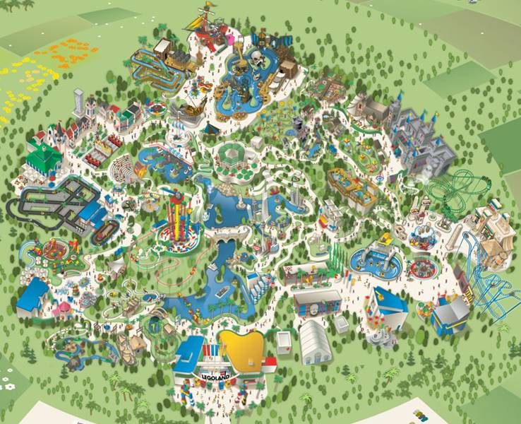kort over Legoland lovgivningsmæssige endetarmen