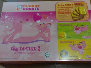 Pink Panther DUNKIN'DONUTS Box