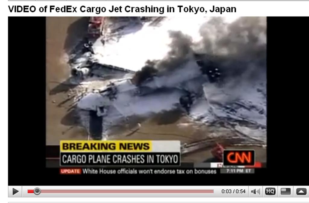 FedEx jet crashed in Narita Airport