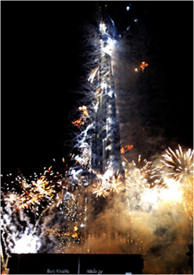 Fireworks at Burj Khalifa