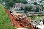 Landslide view from the top of the hill. NSTP/Khairull Azry Bidin.