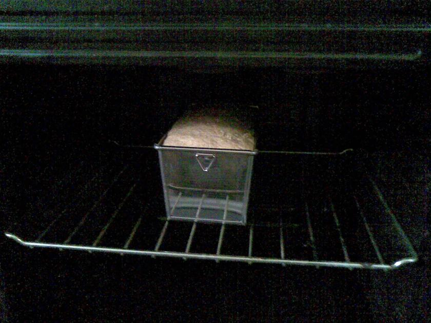 My bread is now inside the oven.