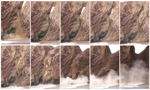 Here's a look at the sequence of the slide of  spectacular event.