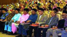 From the left is Tan Sri Dr. Ibrahim Abu Shah (former Vice Chancellor UiTM), Dato' Paduka Haji Badruddin bin Amiruldin (Deputy Permanent Chairman of UMNO), Pak Cik Dato' Dr. Sidek Baba, H. E. Tan Sri Abu Zahar Ujang (President of Dewan Negara), Tun Ahmad Fairuz Sheikh Abdul Halim (former Chief Justice of the Federal Court of Malaysia), Dato' Hj. Wan Mohamad Bin Dato' Sheikh Abdul Aziz (Director General of JAKIM), Datuk Mohamad Shukri Mohamad (Mufti of Kelantan) and Datuk Dr. Abdul Monir bin Yaacob and Tan Sri Datuk Sheikh Ghazali Hj. Abdul Rahman.