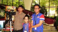 Another photo of Uncle Ansari (L), me and Astro Awani's (R).