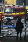 Emergency services attend the scene at Vauxhall (Reuters)