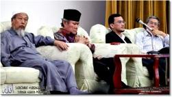 From left, Pak Cik Ismail Mina, Tun Ahmad Fairuz Sheikh, Uncle Azril and Pak Cik Amin. (Photos by jinggo fotopages)