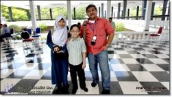 From left is Kashah, me and Uncle Jinggo. (Photos by jinggo fotopages)