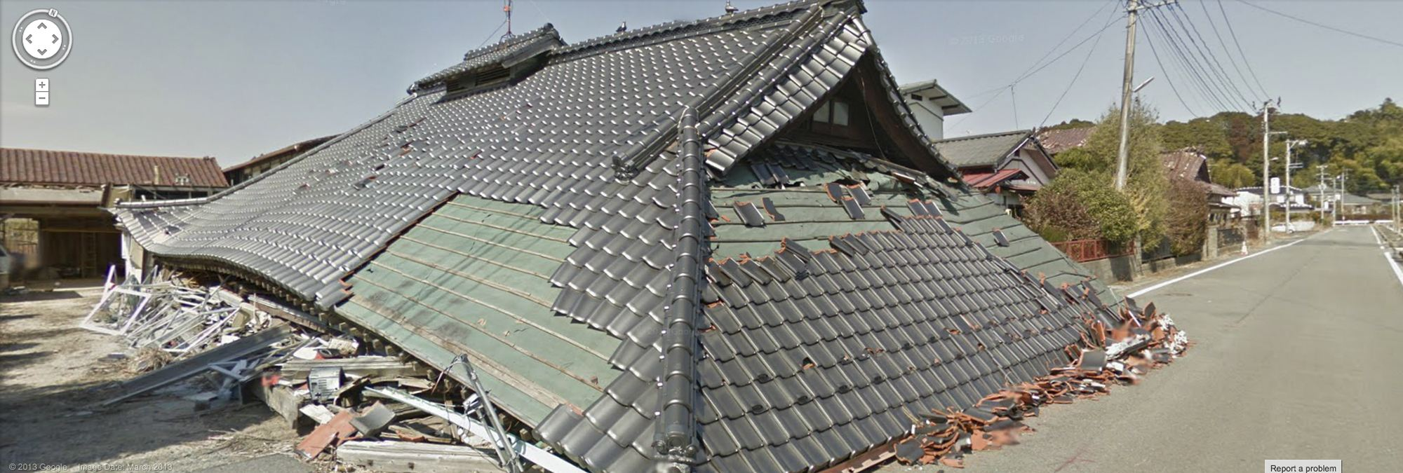 Google maps adds street views inside japan nuclear zone for Google house builder