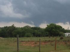 Picture taken with my iPhone of a tornado forming just north of my home in Bridge Creek, Oklahoma 5/20/2013
