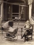 Rock-a-bye-baby: This pram with a radio, antenna and loudspeaker is intended for the mothers who need peace and quiet. Instead of a baby, two dolls have been put in the pram to illustrate the goal of this invention in 1921. (Mary Evans Picture Library/CATERS NEWS)