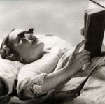 Reading in bed just got easier with these pair of spectacles especially designed for night-time, 1936. (Mary Evans Picture Library/CATERS NEWS)