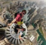 Dubai from the top of a building. (Alexander Remnex/Caters News)