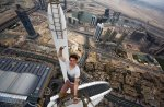 One of the Daredevils on top of a building in Dubai. (Alexander Remnex/Caters News)