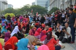 Another part of the crowd in front of the Istana Kehakiman, June 23, 2014.