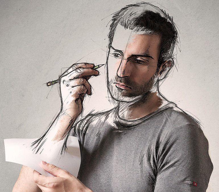 Creative Part-Photo And Art-Sketch By Sebastien De Grosso (2/6)