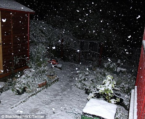 Residents in the Blue Mountains experienced sub zero temperatures, but were treated to an incredible Spring snow storm