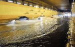 Vehicles in Jalan Tun Razak tunnel are forced to use the right lane due to the flash flood occurred in the city - BERNAMA.