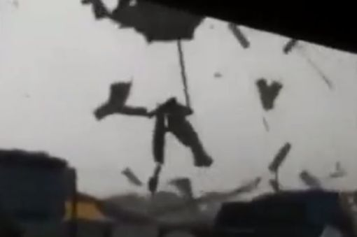 "A screengrab from a viral video of the ""twister"" in Klang. (The Star)"