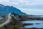 Nice curves: Norway's picturesque Atlantic Ocean Road includes the iconic Storseisundet Bridge. (DailyMail).