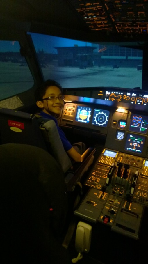 I was so happy to get the chance 'flying' an  Airbus A320.