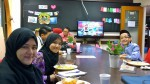 We were served tasty lontong for breakfast before our turn to be on air.