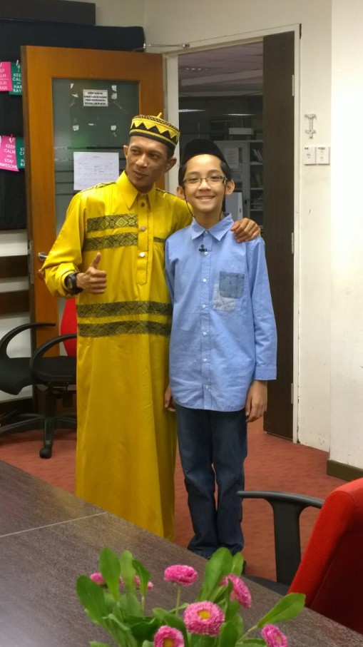 With Ustaz Manis, Saturday August 8, 2015.