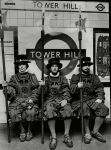 Students in Beefeater costumes wait for a tube at Tower Hill in 1968. (Ronald Spencer/Associated Newspapers/REX Shutterstock)