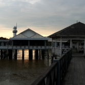 A panorama photo the Tanjung Piai Resort.