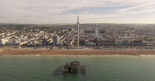 Panoramic views: The i360 is the thinnest 'tall tower' in the world.