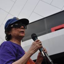 G25's Datuk Noor Farida Ariffin speaking at the rally.