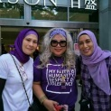 The infamous Siti Zabedah (centre) with her friends.