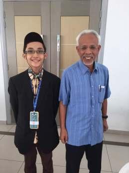 A photo with Tan Sri Shahrir Samad.