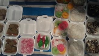 More tasty Teengganu kuih such as bronok, (left) and kuih lompang at Pasar Malam Dungun, Oct. 24, 2017.