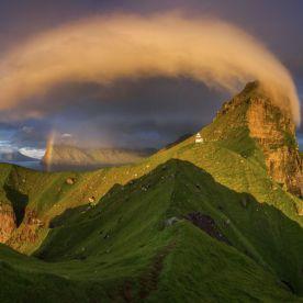 """Kalsoy island and Kallur lighthouse in sunset light, Faroe Islands."" (Wojciech Kruczyński / National Geographic Nature Photographer of the Year contest)"