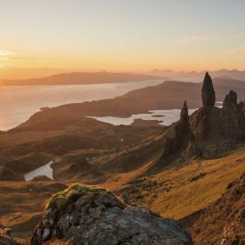"""A spectacular sunrise at the old man of storr, on the isle of skye, scotland."" (neil@njphotographic.co.uk JACKSON/ National Geographic Nature Photographer of the Year contest)"