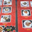 The menu of the restaurant