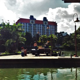 The Legoland Hotel seen from the boating school.