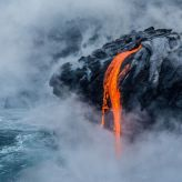 The image shows the 61G lava flow at the Pu'u O'o eruption site of the active Kilauea volcano in Hawaii's Volcano National Park. It was given an honorable mention in the Earth Science and Climatology category. (PA)