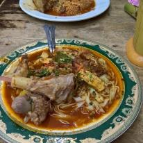 The delicious 'Kuew Tiaw Racun'