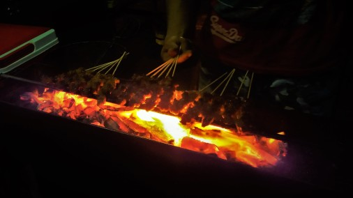 The tasty and juicy sate kambing.