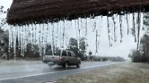 PHOTO: Icicles hang from the 'Welcome to Hilliard sign' in Hilliard, Fla., Jan. 3, 2018. (Bob Self/The Florida Times-Union via AP)