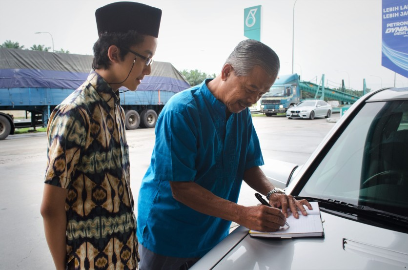 I took the opportunity to ask Datuk Mohd Noor Abdullah for an autograph.