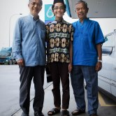 A photo of Datuk Mohd Noor Abdullah, my father and I.