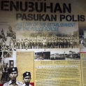 Pemeran yang menerangkan sejarah penubuhan pasukan polis tanah air.