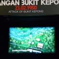 Sebahagian daripada video yang memaparkan lakaran serangan ganas komunis ke atas Balai Polis Bukit Kepong.