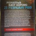 Antara bahan pameran di Galeri Darurat Bukit Kepong, Johor.