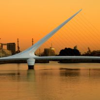 Designed by starchitect Santiago Calatrava, Puente de la Mujer, which was completed in 2001, is located in the commercial district of Buenos Aires.